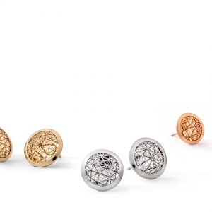 Tom Rucker Jewellery. Ear studs Platinum 950 & Gold 750 (yellow, pink) ø 13-15 mm