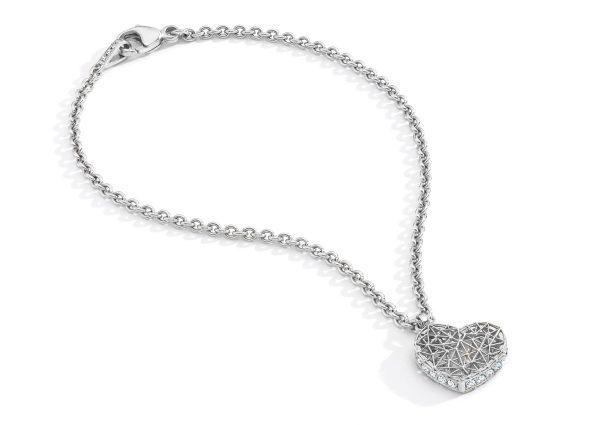 Geo.Siu bracelet by Tom Rucker. Platinum 950 bracelet with rare white diamonds
