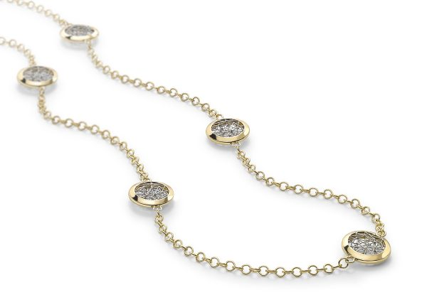 Tom Rucker Jewellery Platinum and gold necklace