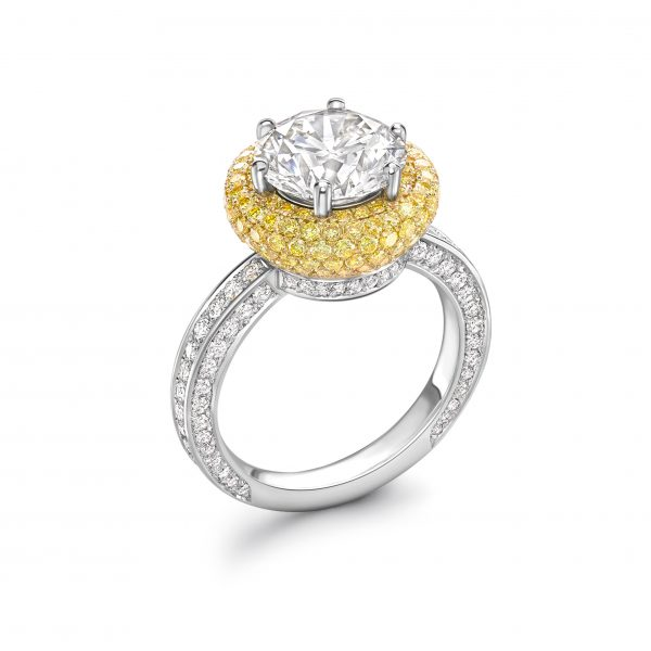 94 GEO Halo Ring by Tom Rucker Fine Jewellery London