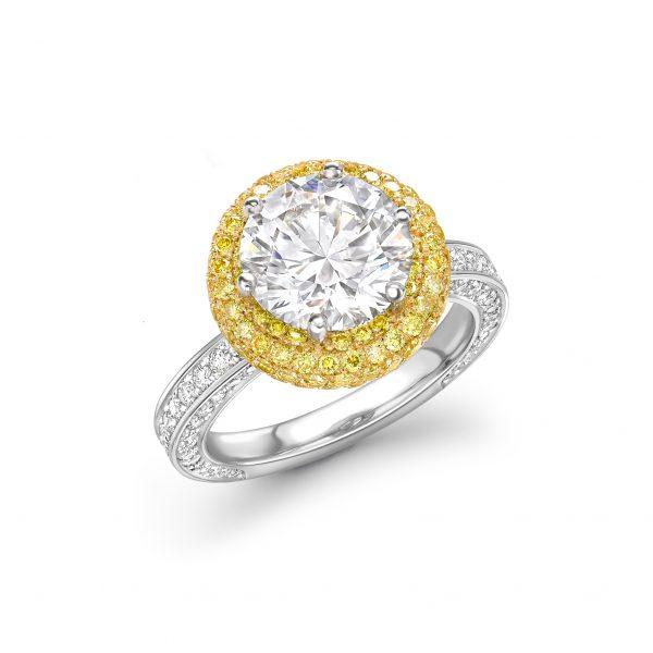 GEO Halo Ring by Tom Rucker Fine Jewellery London