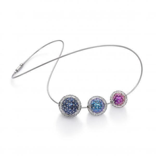 97 GEO Sphere Hyderian Necklace by Tom Rucker Fine Jewellery
